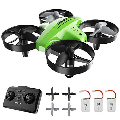 ATOYX Mini Drone para Nios, RC Helicopter Quadcopter AT-66C, 3D...