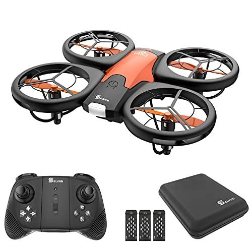 Selvim Mini Drone para Nios, Dron con 3 Bateras, Larga Duracin de...