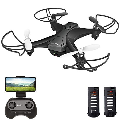 tech rc Mini Drone con Cmara, App WiFi FPV, Modo sin Cabeza,...