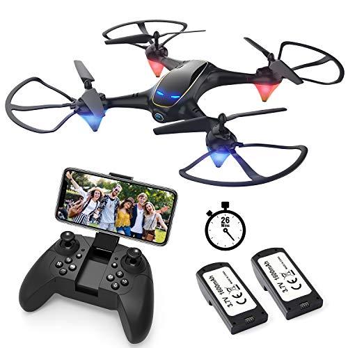 EACHINE E38 Drones con Cmara para Adultos LED Tiempo de Vuelo...