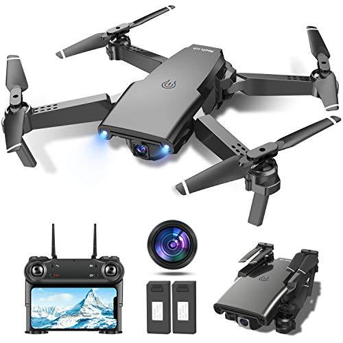 tech rc Drone con Cmara HD 1080P, Drone FPV Plegable Drone...