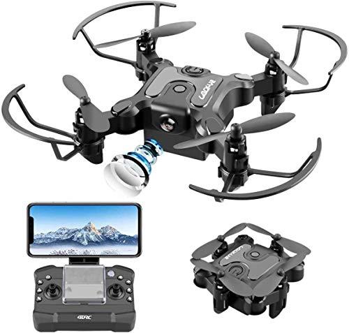 4DRC V2 Mini Drone con Cmara 720P HD Plegable FPV Control de Voz,...