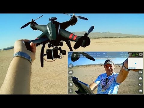 Bayangtoys X22 Three Axis Gimbal Brushless GPS Drone Flight Test Review