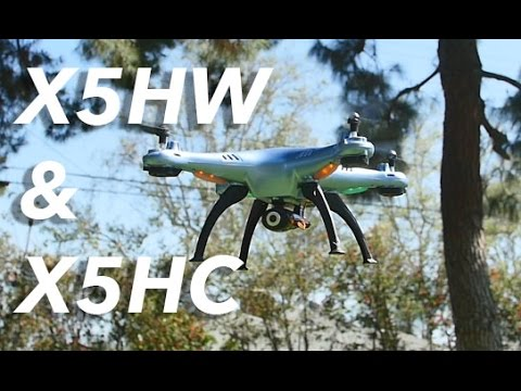 Syma's Newest X5HW & X5HC Camera/Wifi Auto Hover RC Quadcopter Drone Full Review