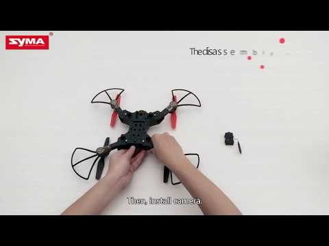 Syma X56W Camera Drone WiFi Foldable RC Quadcopter Operation Tutorial