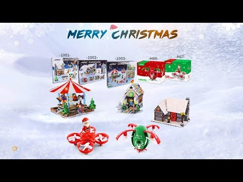 Merry Christmas, Flying Santa Claus RC Quadcopter, JJRC H67, H66