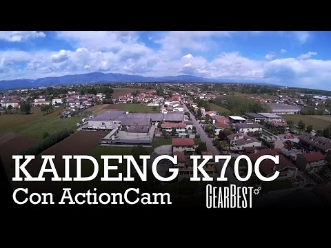 Kaideng K70C - come installare Action Cam FullHD e prova di volo