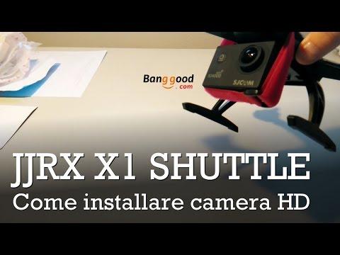 JJRC X1 + SJCam 4000: come installare una camera sul JJRC X1