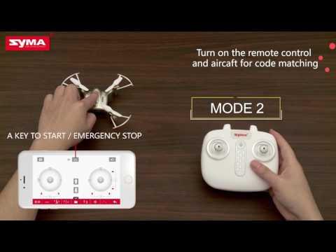 Syma X21W Wifi FPV Mini Drone With Camera Live Video LED Nano Pocket RC Quadcopter
