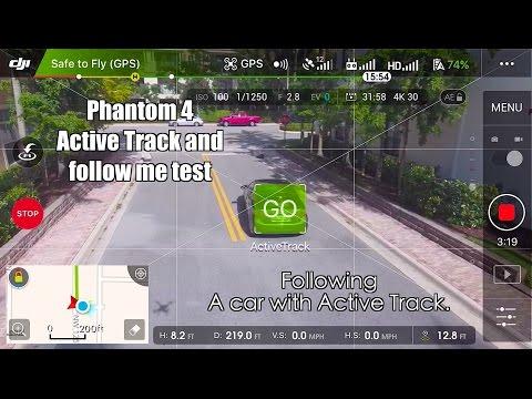 Phantom 4🚗🚁 active track Follows a CAR :) in 4k