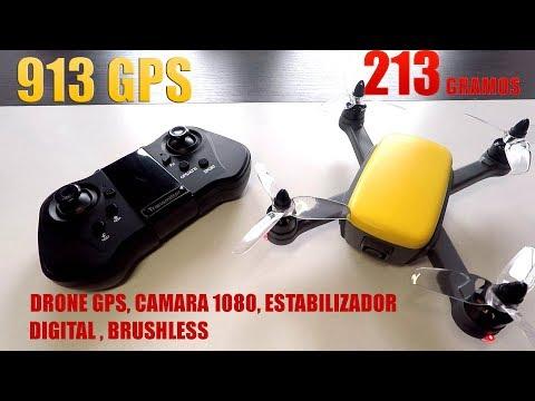 DRONE CAMARA 1080 GPS BRUSHLESS DE MENOS DE 250 GR, FUNSKY 913 GPS