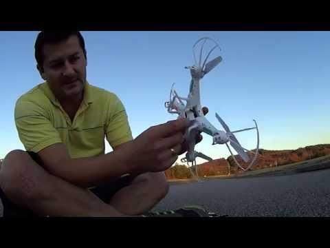 Cuadricóptero Syma X5C vuelo de prueba y review en español dronix.co