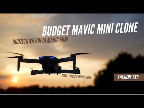 🚁 Eachine EX5 - Budżetowy Klon Mavic Mini || Pierwsze loty i wrażenia 🏆🏆🏆
