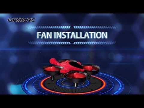 GoolRC Scorpion T36 2.4G Mini Drone Nano UFO RC Quadcopter - Red