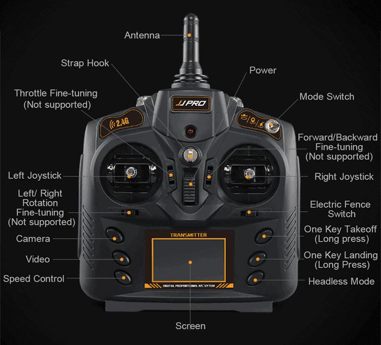 jjpro x3 mando radio control