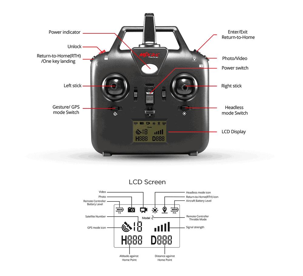 Potensic D80 - MJX Bugs 2W control