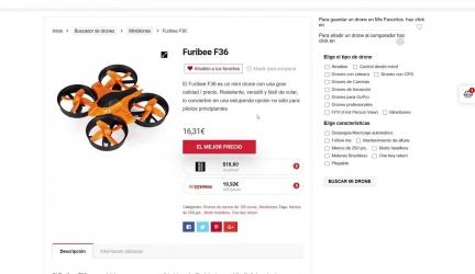 Comparador de drones baratos
